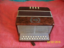 Frontalini Brown  Accordion 2 row button box Accordian made in Italy  Tuning GC