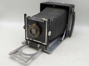 Vintage Burke & James B J 4x5 Large Format Press Camera w/ Kodak 170mm F7.7 Lens