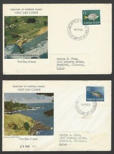 Norfolk Island 1962 Fish 6v on 6 First Day Cover FDC
