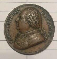 Louis XVIII and Henri IIII Roi de France copper medal