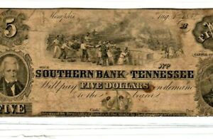 """$5 """"SOUTHERN BANK"""" (TENNESSEE REDBACK)!!! $5 """"SOUTHERN BANK"""" (TENNESSEE REDBACK)"""