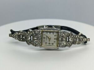 VINTAGE GENEVE stainless steel cord Lady's Woman's Wrist Watch