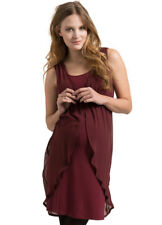 NEW - Esprit - Chiffon Maternity Party Dress in Burgundy - FINAL SALE