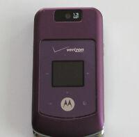GOOD Motorola W755 PURPLE No Contract  (Verizon) Phone Page Plus Straight Talk
