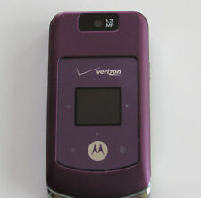 GREAT Verizon Motorola W755 PURPLE No Contract 3G 1.3MP Camera MP3 Flip Phone