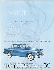 Toyota  Single Sheet  Toyopet Crown Custom Sedan   1959