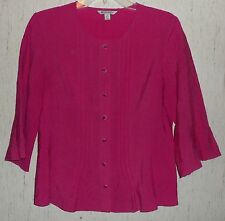 EXCELLENT WOMENS SPANNER HOT PINK BLOUSE   SIZE 6