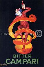 Bitter Campari Cappiello Vintage Ad Poster Print  18x24