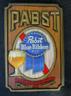 Vintage Pabst Blue Ribbon  Beer Plastic Molded Sign Never Mounted