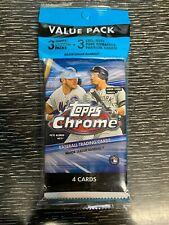 2020 Topps Chrome Baseball Cello Value Pack Sealed. Free Shipping.