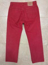Levi's 501 jeans rojos excelentes W35 L30 eu 42 red (A14)