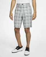 "NIKE MENS FLEX CORE CHECKERED GOLF SHORTS - 30"", 34"" & 40"" - GREY (CI9803-010)"