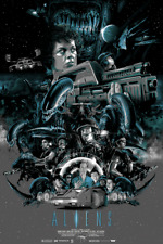 """ALIENS """"This Time It's War"""" VANCE KELLY, Rare sold out Print from HCG, NT MONDO"""