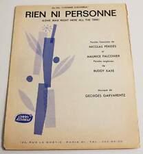 Partition vintage sheet music RICHARD ANTHONY : Rien Ni Personne * 60's