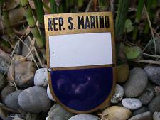 alte SAN MARINO - Repubblica di San Marino Wappen Auto Plakette Car Badge