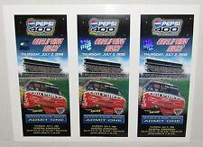 NASCAR 1998 Pepsi 400 at Daytona Qualifying Night Uncut Ticket Stub Sheet