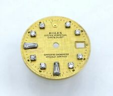 18k Rolex 6917 Factory Champagne Baguette Diamond President Datejust Watch Dial