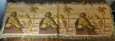 Ancient Egypt Tapestry Vintage Pyramids Sphinx Palm Trees Camels Machine Woven