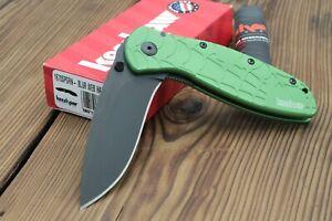 Kershaw Green Web Blur Knife 1670SPGRN