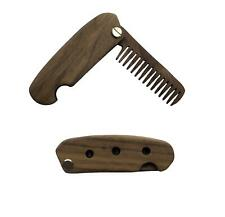 Foldable Comb Black Walnut High Quality Wooden Mustache and Beard Brush