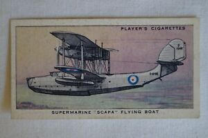 Players Vintage 1938 WWII Era Aircraft Royal Air Force Card Supermarine Scapa