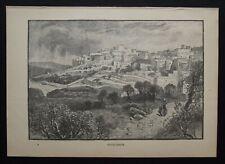 Antique Print: Illustration of Bethlehem, Cassell's Encyclopedia, c 1900
