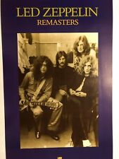 Led Zeppelin Remasters Original 2-sided 1992 Promotional Poster Free Shipping!