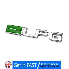 Gpl auto gaz eco metal chrome badge emblème logo autocollant