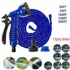 25-200FT Expanding Flexible Expandable Garden Water Hose Pipe + Spray Nozzle USA