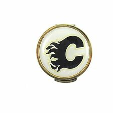 Calgary Flames Golfers Hat Clip with Golf Ball Marker