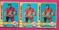 3 X 1972-73 OPC # 5 FLAMES RON HARRIS  CARD (INV# C1173)