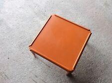 Table basse carré orange vintage 70