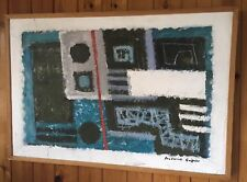 Early Original Absract  modern canvas by listed artist Frederick Griffin
