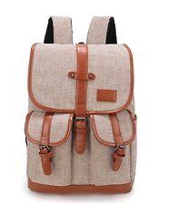 "Weekend Shopper Vintage Backpack Fits Most 15"" Laptops, Khaki"