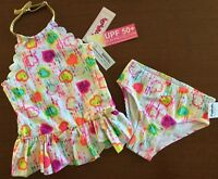 NWT FLAPDOODLES GIRLS TWO PIECE TANKINI SWIMSUIT SIZE 5 FULLY LINED MSRP $34.00