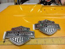 Genuine Harley Softail Sportster Dyna Touring Fuel Gas Tank Set Emblems Badges