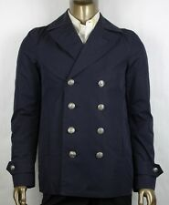 $2650 Gucci Men's Blue Polyester Washed Gabardine Blouson Jacket 46R 364514 4080