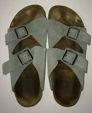 BIRKENSTOCK ARIZONA SANDALS SHOES SIZE 37 SEAFOAM SUEDE LEATHER EUC