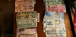 Lot of Canadian Currency $207.00 Face Value some older notes