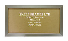 SKELF FRAMES - PEWTER ~ PANORAMIC ~ PICTURE PHOTO POSTER FRAME with GLASS