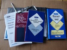 1992 Ford Escort Owners Manual original with case and radio manual