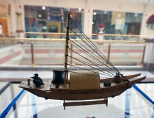 China canvas boat fishing boat Wooden ship model kit(with resin accessories)