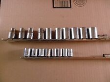 18 PC CRAFTSMAN 1/2 DR SAE and 3/8 DR METRIC SOCKETS