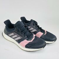 Adidas Ultra Boost ST Womens Size 11.5 Black Pink White Running Shoes B75864