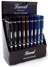 laval twist up kohl eyeliner pencils, waterproof, various eye liner colours