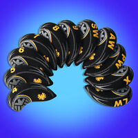 Black/Yellow Golf Club Iron Covers Headcovers For Titleist Mizuno Callway x11pcs
