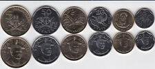 Swaziland / Swasiland - 10 + 20 + 50 Cents + 1 + 2 + 5 Emalangeni 2015 UNC Satz