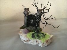 MINI BONSAI COPPER WIRE TREE ART SCULPTURE HALLOWEEN SCENE