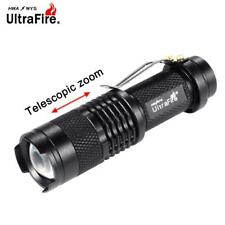 Bright 3500 LM Ultrafire SK68  Q5 Mini LED Flashlight Penlight Lamp Black  GN