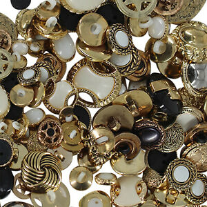 Vintage Retro Buttons Job Lot Art Craft Sewing Assorted Gold Buttons of 5kg Bulk